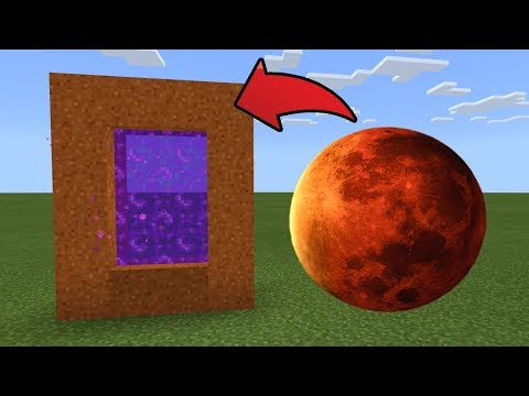 How To Make A Portal To The MARS Dimension In MCPE (Minecraft PE)