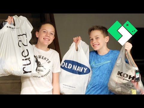Back to School Clothes Shopping 2018 | Clintus.tv