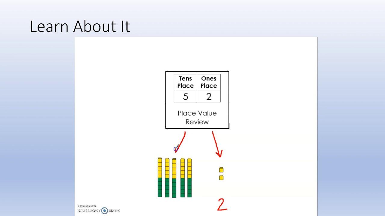 BCPS Teacher Lessons - Grade 1 Bridges Math 5-20-20 - YouTube
