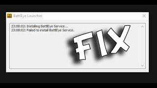 Failed to install BattleEye Service FIX 100% working (PUBG)
