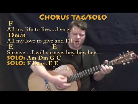 I Will Survive (Gloria Gaynor) Strum Guitar Cover Lesson with Chords/Lyrics