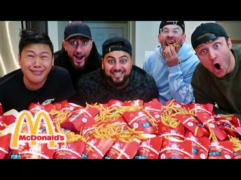 EPIC 10,000 McDONALD'S FRENCH FRIES CHALLENGE!!