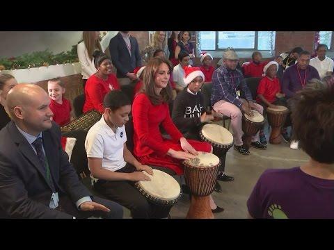 Kate joins drumming workshop on visit to Anna Freud Centre