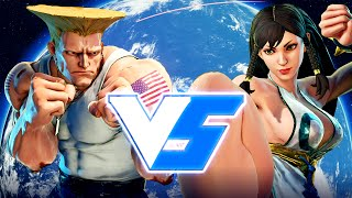 Street Fighter 5 Guile Online Ranked Matches (PS4)