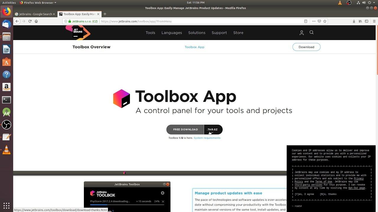 How To install JetBrains Toolbox App on ubuntu 2019