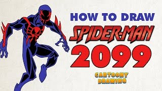 Spider Man 2099 - How to draw 2099 #SpiderMan in three minutes.