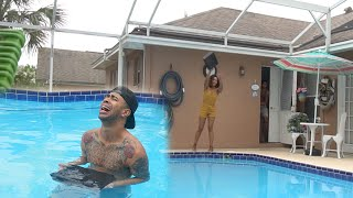 ANGRY GIRLFRIEND THROWS PS4 IN THE POOL PRANK GONE WRONG
