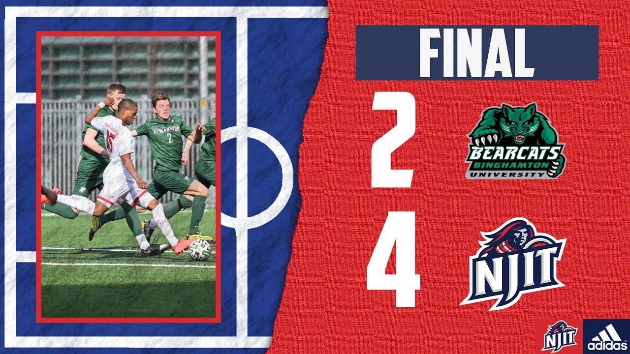 NJIT. Men's Soccer Post Game - Binghamton | 3.22.21