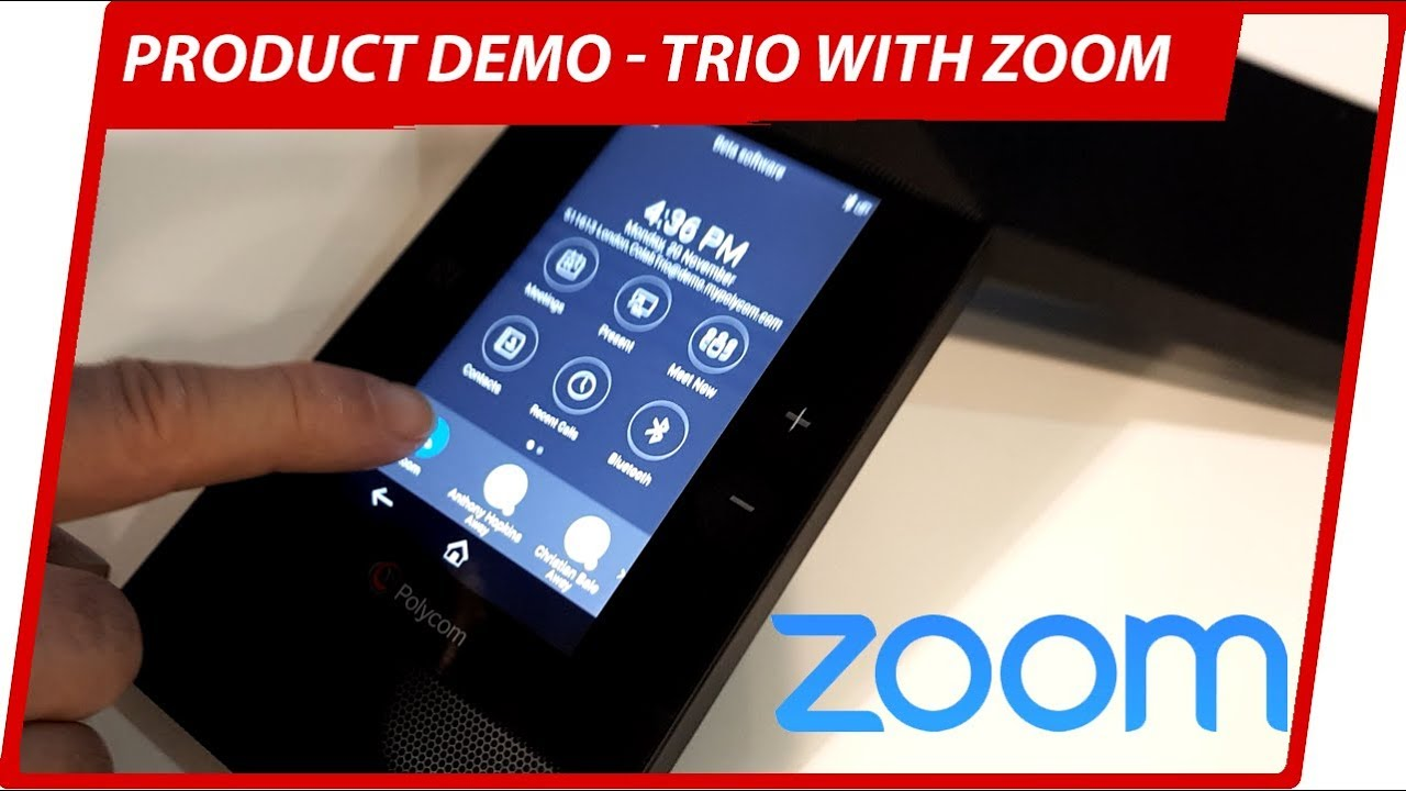 Polycom Trio with Zoom Video Conferencing