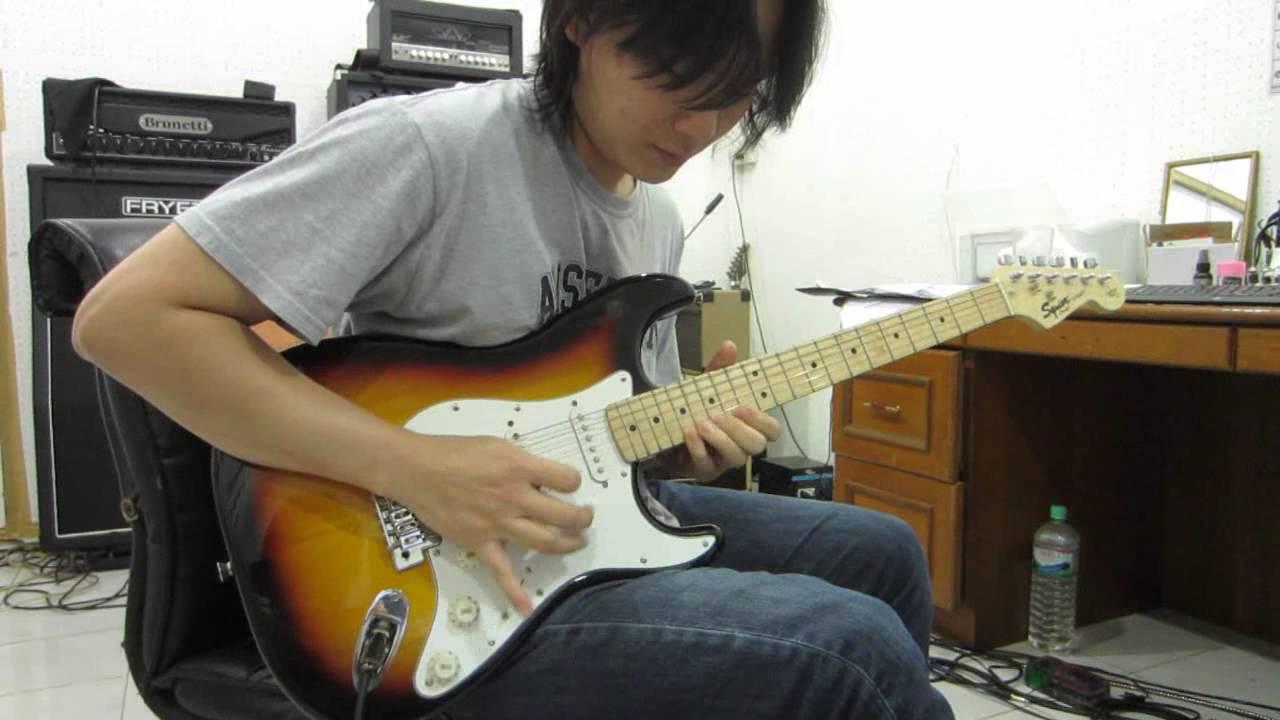 Squier Strat California Series Guitar Sound Demo