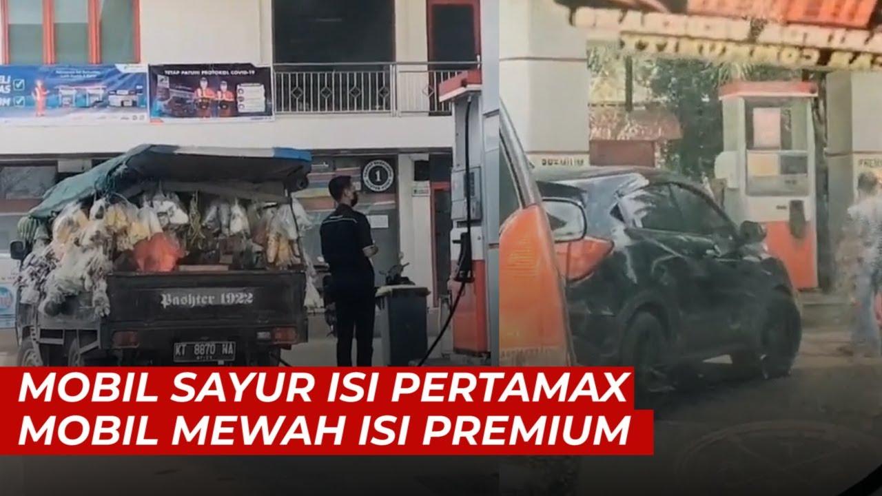 Viral Mobil Pick Up Isi Pertamax Mobil Mewah Antre Isi Premium Youtube
