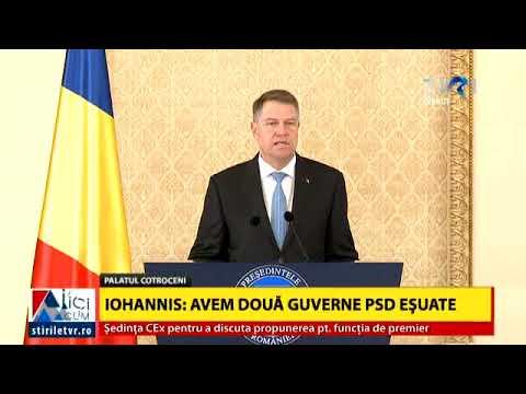 Președintele Klaus Iohannis l-a desemnat pe Mihai Fifor ca prim ministru interimar