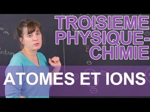 Atomes et ions - Physique-Chimie - 3e - Les Bons Profs
