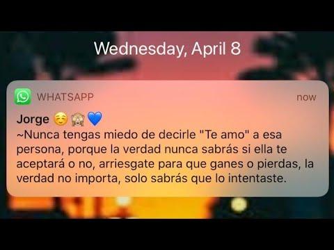 Hermosa 💗 declaración de amor por WhatsApp.