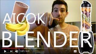 AICOK BLENDER GOURDE : Le test avec la recette du MILKSHAKE chocolat banane