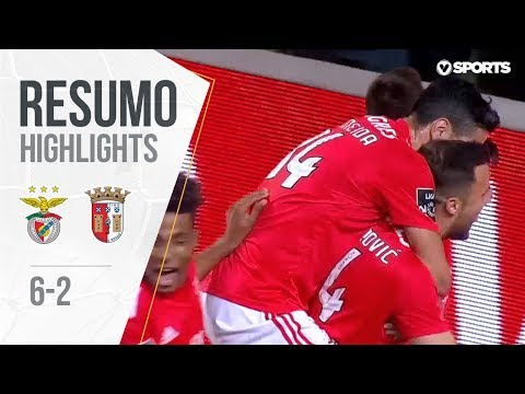 Highlights | Resumo: Benfica 6-2 Braga (Liga 18/19 #14)