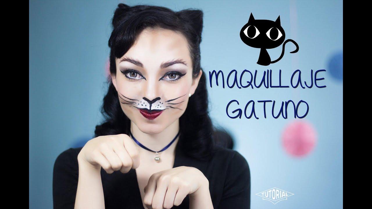 Maquillaje de gatita Look para fiestas de disfraces YouTube
