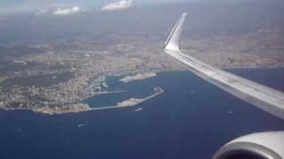 Transavia B737-800 take-off from Palma de Mallorca Son San Juan