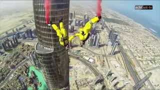 (Dubai) Weltrekord in Base Jumping vom Burj Khalifa 828 Meter hoch!