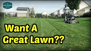 Make YOUR LAWN GREAT This Fall! - Fall Lawn Care Program Step 1