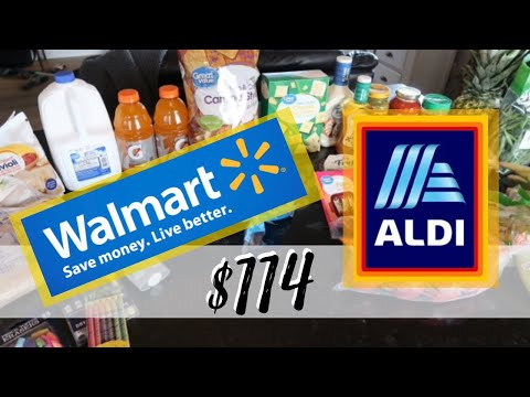 grocery-haul-on-a-budget-(2019)- -walmart-&-aldi-grocery-haul- -weekly-meal-plan