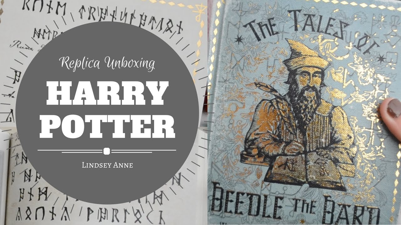 Harry Potter Book Unboxing : Harry potter replica unboxing tales of beedle the bard