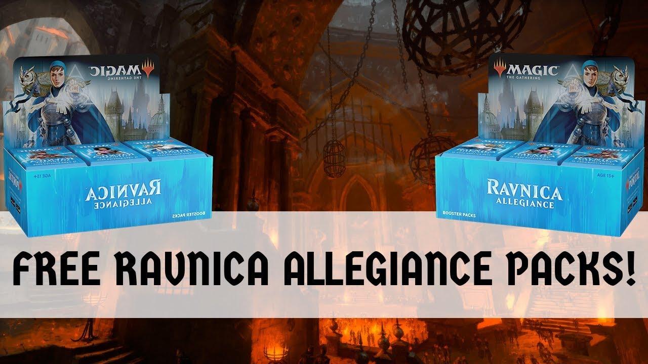 mtg arena ravnica allegiance free packs