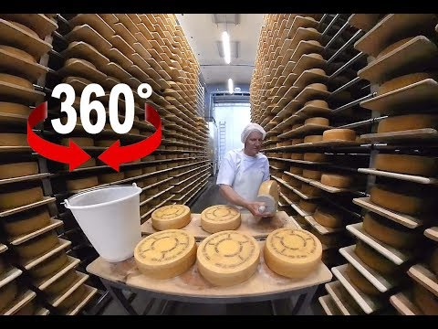 How to produce world famous Appenzell cheese I Switzerland I 360 Video