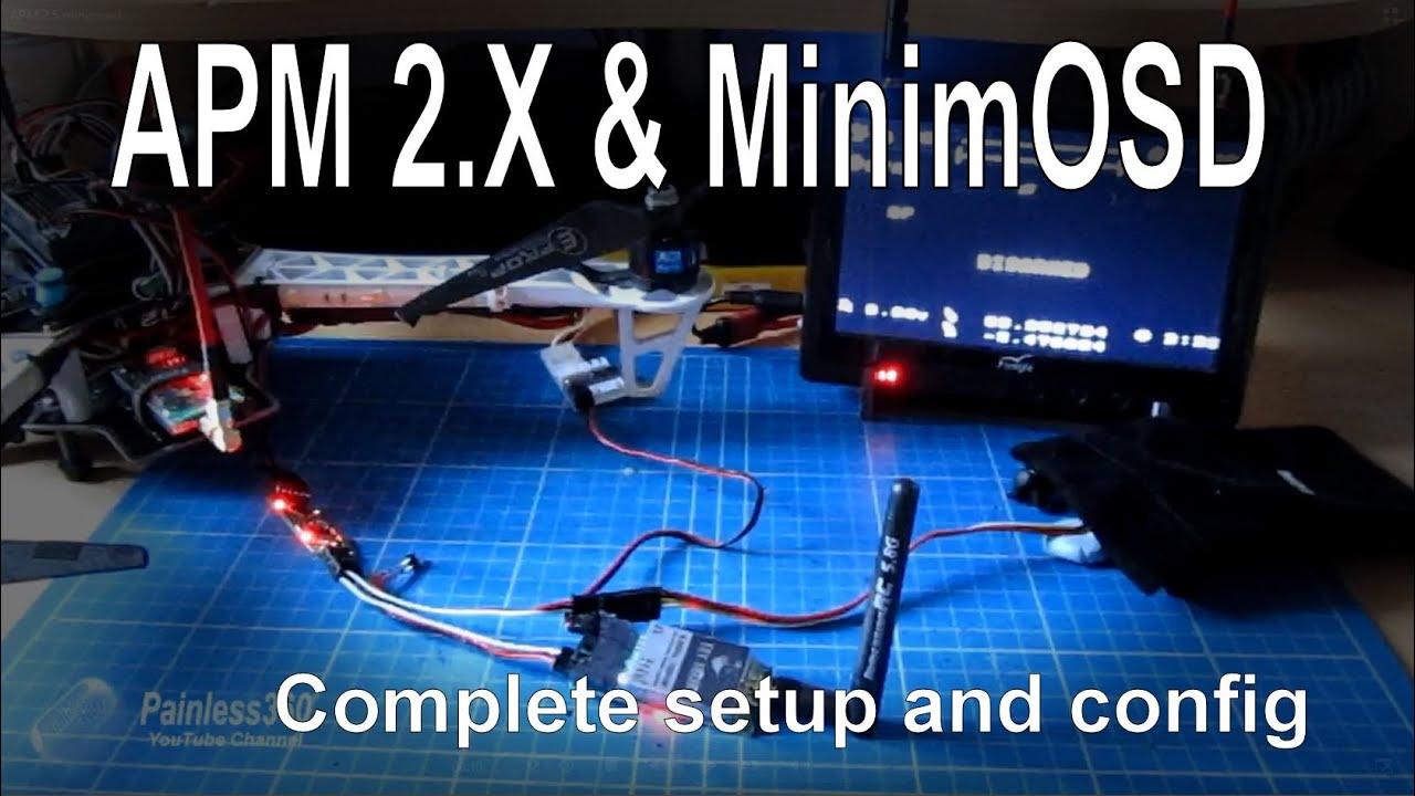 APM 2.5/2.6/2.7 - Adding an OSD for FPV using MinimOSD - complete setup  sc 1 st  YouTube : minim osd wiring - yogabreezes.com