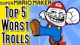 Super Mario Maker TOP 5 TROLLS in Super Expert Mode (Wii U)