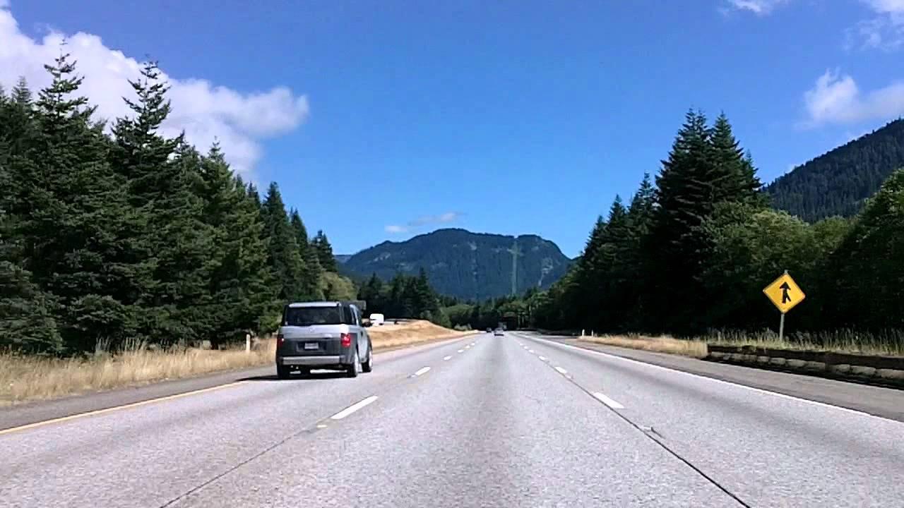 Driving I-90 Through the Washington Cascades: Snoqualmie, Roslyn