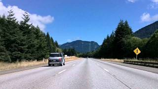 Driving I-90 Through the Washington Cascades: Snoqualmie, Roslyn