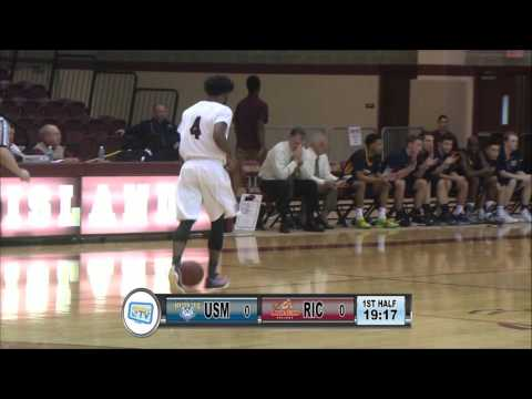 RIC Anchormen Basketball vs University of Southern Maine 1-13-16