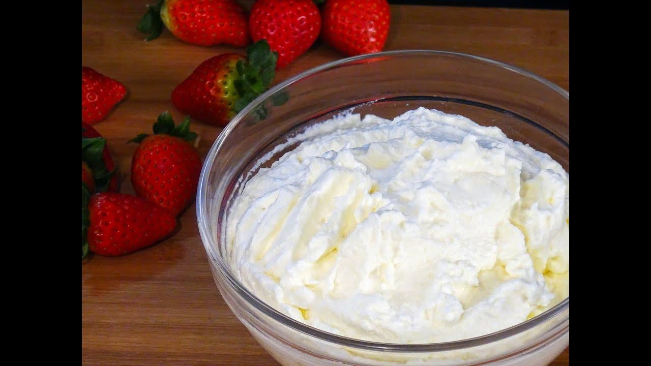 Receta Nata montada o crema de leche batida  Recetas de