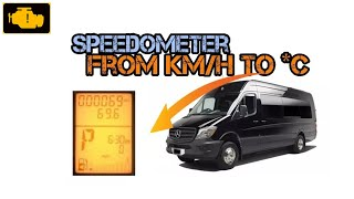 How to change km/h to *C - Zmiana Km/h na *C - Mercedes Sprinter