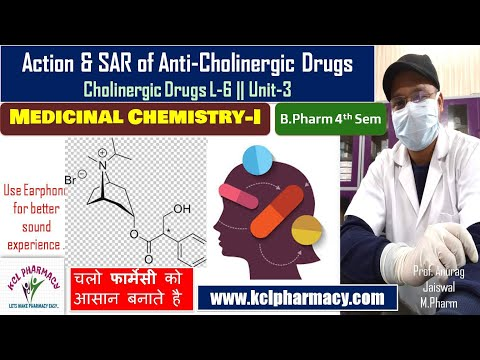 Action Classification & SAR of Anti-Cholinergic Drugs     L-6 Unit-3 Medicinal Chemistry -I