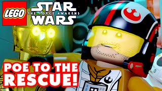 LEGO Star Wars The Force Awakens - Gameplay Part 11 - Poe to the Rescue!