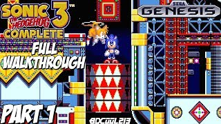 Sonic 3 Complete Gameplay Full Walkthrough Part 1 - Sega Genesis