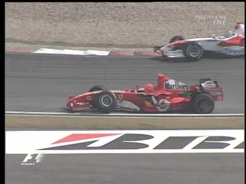 2005 Chinese GP Warm Up - Schumacher/Albers crash