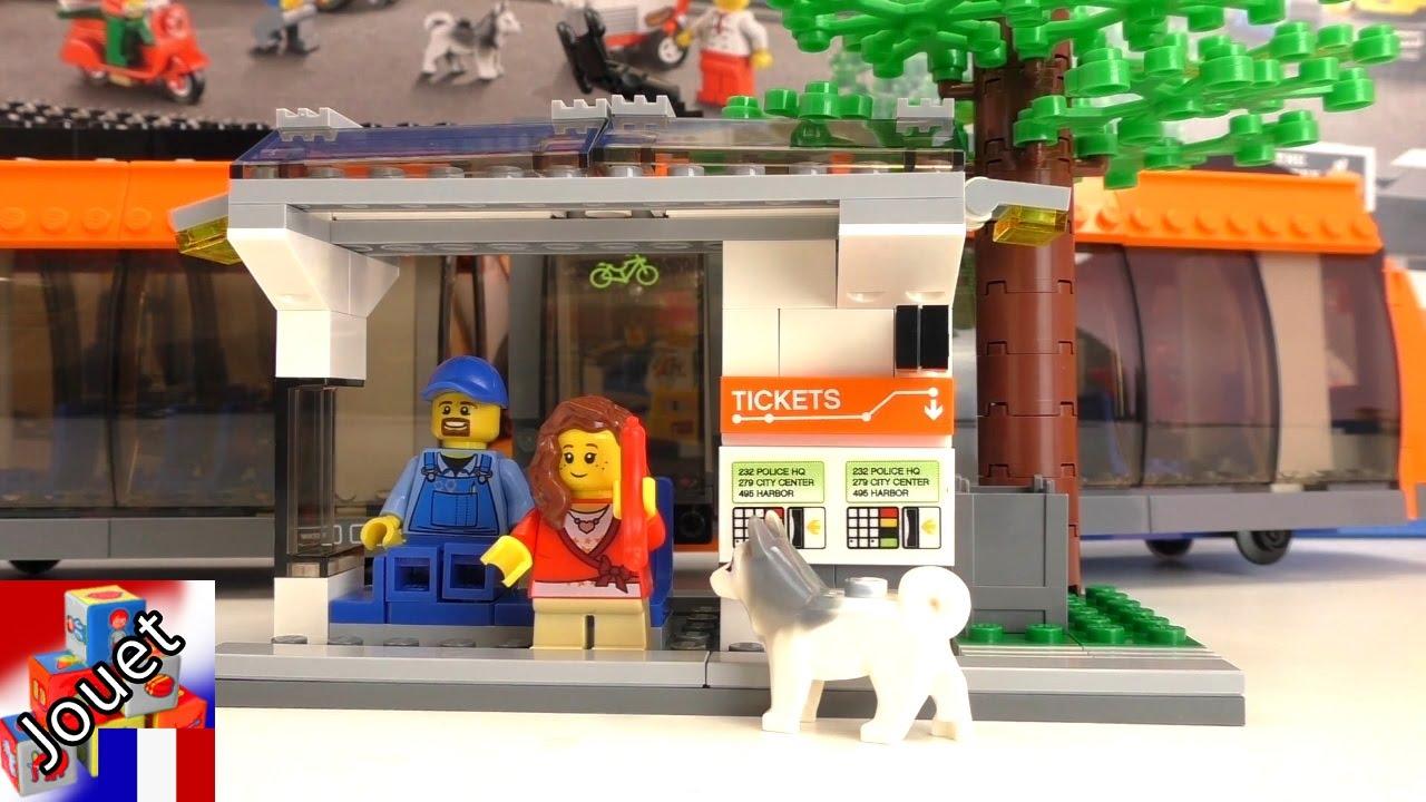 Arr t de tramway lego construction d mo lego city centre for Arret voiture garage