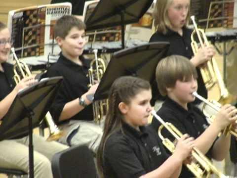 Plainwell Middle School 6th grade band concert 11/28/06