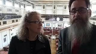 Uncle Grumpy and Norma Sapp at the Oklahoma state Capitol