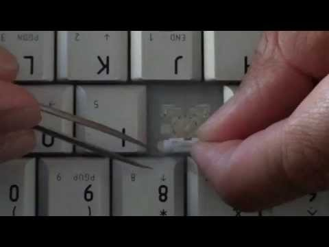 Toshiba Satellite A200 Laptop: How to Fix a Broken Key on the Keyboard