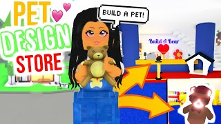 Build A Bear Workshop In Adopt Me Dress Your Pets!!! | Sunsetsafari