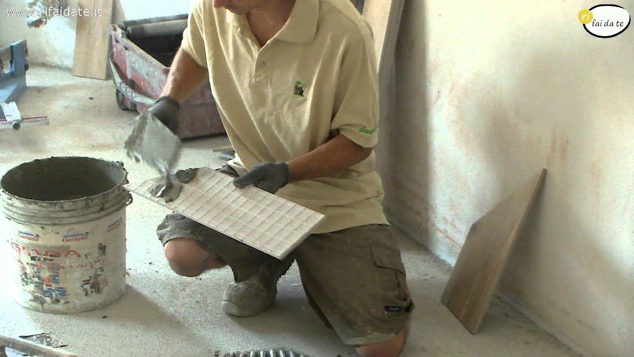 Come posare ceramica effetto legno youtube
