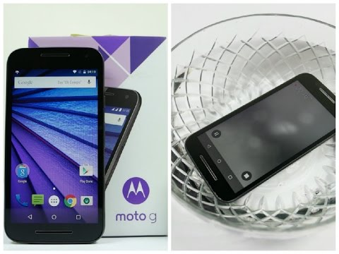 Moto G 3rd Generation (2015) Unboxing, Hands On, Scratch Test and Water Drop Test