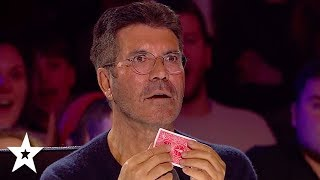 Simon Cowell in SHOCK Over Magic Card Trick! | Got Talent Global