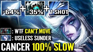 CANCER IS BACK! 100% SLOW CANT MOVE Skadi Drow Ranger Counter TB Sunder Top Rank Dota 2 Pro Gameplay