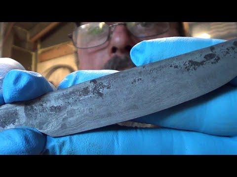Blacksmithing - Forging Welding A Knife From Shop Floor Dust