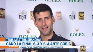 Novak Djokovic se corona campeón del Masters 1000 de Shanghái